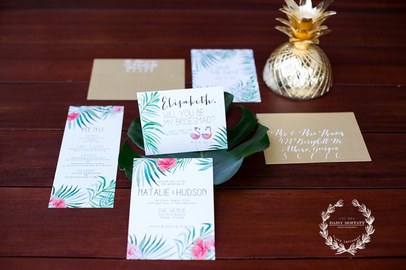 When a chattanooga florist, chattanooga photographer, wedding styling specialist and chattanooga tents collaborate for an luxury tropical engagement party magic happens.